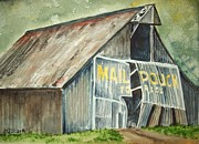 Pouch Painting Posters - Mail Pouch Tobacco Barn Poster by Margaret Older