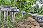 Mail Box Metal Prints - Mail Route Metal Print by Scott Pellegrin
