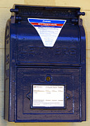 Meanings Digital Art Posters - Mail Slot Mailbox at the post office in Andersonville Georgia Poster by Kim Pate