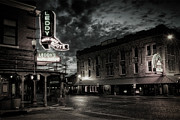 Stockyards Prints - Main and Exchange BW Print by Joan Carroll