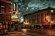 Stockyards Prints - Main and Exchange Print by Joan Carroll