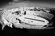 Ancient Rome Art - Main arena and old roman colloseum in the centre of El Djem el jem tunisia by Joe Fox