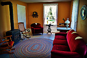 Pottawatomie Prints - Main Living Area of the Pottawatomie Lighthouse on Rock Island Print by Carol Toepke