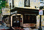 Philadelphia Painting Prints - Main St Bar and Grille Manayunk Philadelphia Print by Kevin J Cooper Artwork