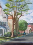 Mail Box Painting Framed Prints - Main St. Matawan Framed Print by Maria Milazzo