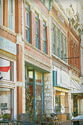 Small Town America Framed Prints - Main Street America street scene photograph Framed Print by Ann Powell