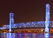 Riverwalk Prints - Main Street Bridge Jacksonville Print by Christine Till