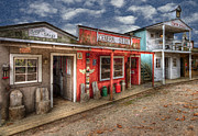 Historical Towns Prints - Main Street Print by Debra and Dave Vanderlaan