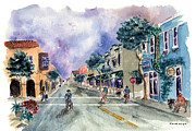 Half Moon Bay Posters - Main Street Half Moon Bay Poster by Diane Thornton