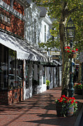 New England Fall Photos Prints - Main Street in Edgartown Print by Juergen Roth
