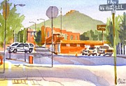 Knob Painting Prints - Main Street in Morning Shadows Print by Kip DeVore