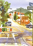 Streets Painting Originals - Main Street Ironton Missouri by Kip DeVore