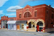 Buildings Pastels - Main Street by Kimberly Burkhardt