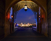 Wdw Framed Prints - Main Street Lights Framed Print by Carol  Bradley - Double B Photography