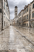 Dubrovnik Photos - Main street of the old town of Durbrovnik by Oscar Gutierrez