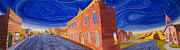 Americana Paintings - Main Street Panoramic by Scott Kirby
