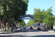 Pleasanton Posters - Main Street Pleasanton California 5D23979 Poster by Wingsdomain Art and Photography