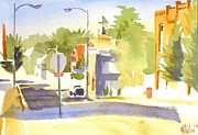 Small Town Paintings - Main Street South by Kip DeVore
