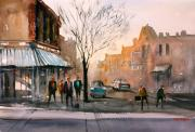 Urban Buildings Prints - Main Street - Stevens Point Print by Ryan Radke