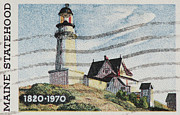United States Postage Posters - Maine 1820-1970 Poster by Andy Prendy