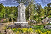 Maine At Gettysburg - 5th Maine Volunteer Infantry Regiment Just North Of Little Round Top Print by Michael Mazaika