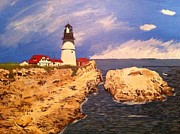 Maine Shore Originals - Maine coast lighthouse by Peter Sabatini