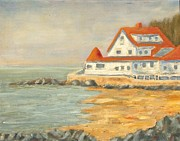 Villa By The Sea Prints - Maine Coast Print by Michael Brown