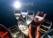 Boats At Dock Posters - Maine Poster by David Perry Lawrence