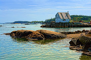 Maine Posters - Maine Fishing Port Poster by Olivier Le Queinec