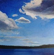 Kat Logan - Maine Island and Clouds