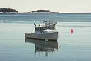 Maine Lobster Boats In Winter Print by Keith Webber Jr