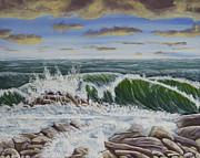 Maine Seacoast Paintings - Maine Seascape Painting by Keith Webber Jr