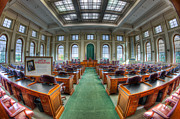 Maine Photo Prints - Maine State House House Chamber I Print by Clarence Holmes