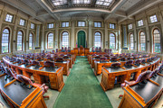Democracy Framed Prints - Maine State House House Chamber III Framed Print by Clarence Holmes