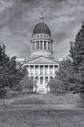 State Legislature Framed Prints - Maine State House II Framed Print by Clarence Holmes