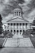 Flag Of Usa Prints - Maine State House VI Print by Clarence Holmes