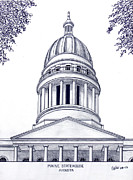 Capitol Mixed Media - Maine Statehouse by Frederic Kohli