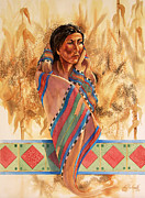 Hopi Indian Paintings - Maize by Craig T Burgwardt