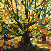 Robie Benve Prints - Majestic and Colorful Tree Print by Robie Benve