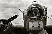 Ww Ii Framed Prints - Majestic B17 Bomber from WW II Framed Print by M K  Miller