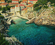 Beach Scenery Painting Prints - Majestic Beauty Print by Kiril Stanchev
