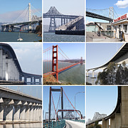 Featured - Majestic Bridges of The San Francisco Bay Area by Wingsdomain Art and Photography