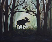 Bulls Originals - Majestic Bull Moose by Leslie Allen