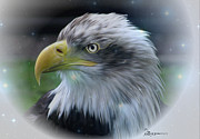 Coat Of Arms Digital Art - Majestic Eagle of the USA - Featured in Feathers and Beaks-Comfortable Art and Nature Groups by EricaMaxine  Price