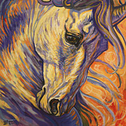 Images Painting Metal Prints - Majestic Lipizzan Metal Print by Silvana Gabudean