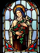 Rosary Framed Prints - Majestic Mary Framed Print by Ed Weidman