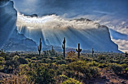 The Superstitions Framed Prints - Majestic Mountain Framed Print by Brian Lambert