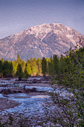 Methow Valley Prints - Majestic Mountain Morning Print by Omaste Witkowski