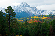 Autumn Prints Framed Prints - Majestic Mt. Sneffels Framed Print by John Hoffman