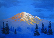 Serenity Scenes Paintings - Majestic  Mtn. by Shasta Eone